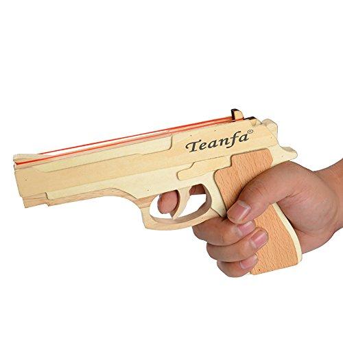 Teanfa Fashion Model Toy Band Gun Wooden Toy Gun