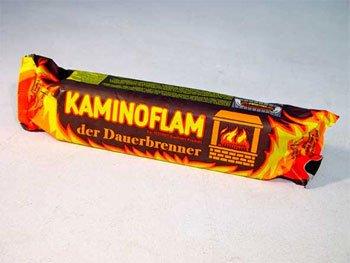 1 Stück KaminoFlam® - Kaminfeuer Dauerbrenner Kaminfeuerscheit, Kaminofen Brennstoff, Kachelofen, Holzofen Befeuerung