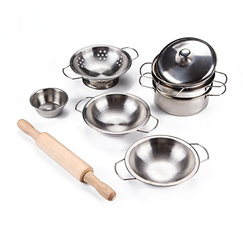 Toy Pots And Pans : Toyerbee pretend play toys little chef stainless