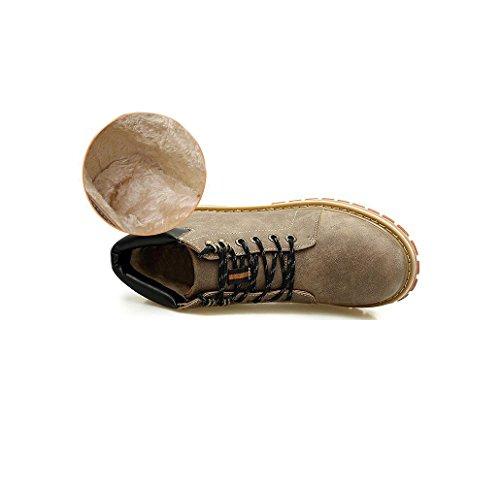 Stivali in Sportivi Nastro Punta Affari Stagione Tondo Tela Uomo Scarpe Colore Sandali A Pelle Brown Morbido Casual ZnqAFR