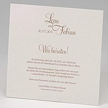 Einladungskarte Hochzeit Charlene Ornamente In Perlmutt Vintage