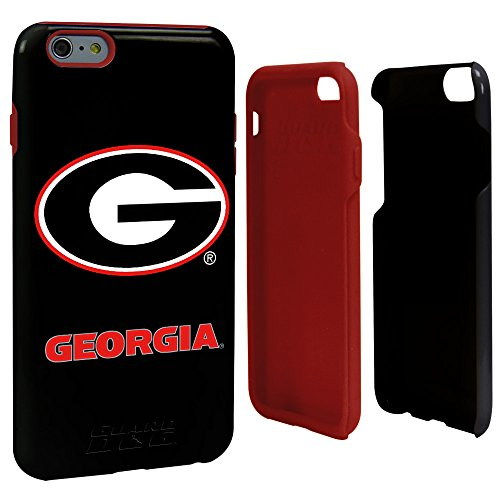 NCAA Georgia Bulldogs Hybrid Case for iPhone 6 Plus, Black, One Size (Iphone 6 Cases Georgia)