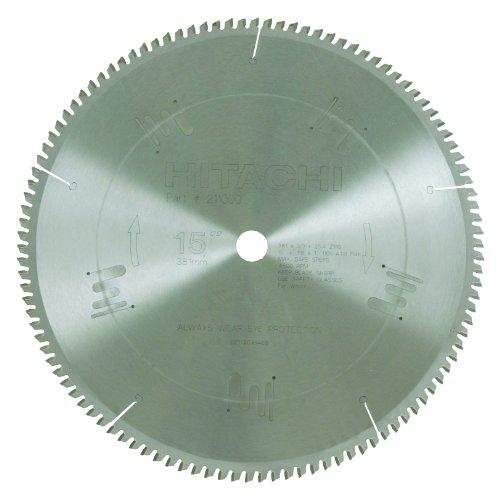 Hitachi 211000 110-Teeth Tungsten Carbide Tipped 15-Inch ATB 1-Inch Arbor Finish Saw Blade