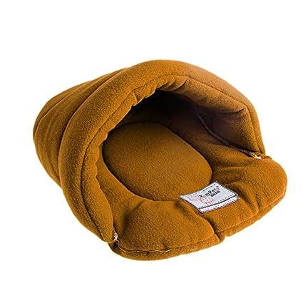 Qiuxiaoaa Zapatillas para Mascotas, Perro de Gato Suave Cama de Animal doméstico Caliente Casa Felpa