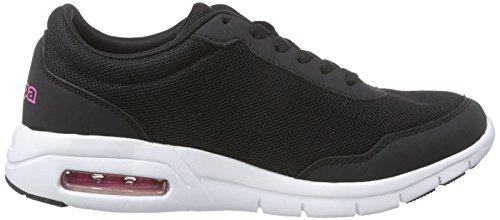 Kappa Melo Footwear Unisex, Mesh/Synthetic - Zapatillas Mujer Negro - Schwarz (1122 black/pink)