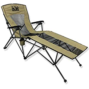 Wolftraders LayZWolf Hi-Back Folding Reclining Lounger Camp Chair