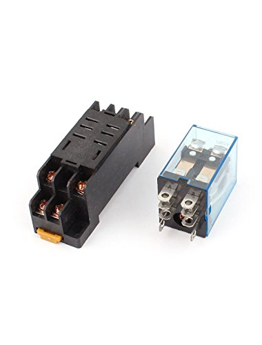 uxcell DC 12V Coil Power Relay 10A DPDT LY2NJ with PTF08A Socket Base