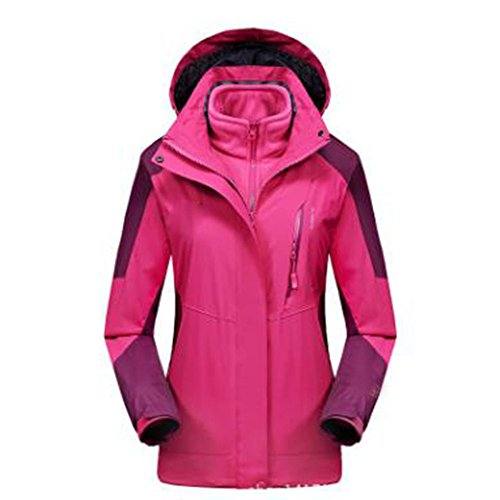 Giacca Triple Wear piece In Riscaldante Giacche Size Large Lai Velluto Plus Rosered Two Addensante Donna Climbing All'aperto Wu H7qfv