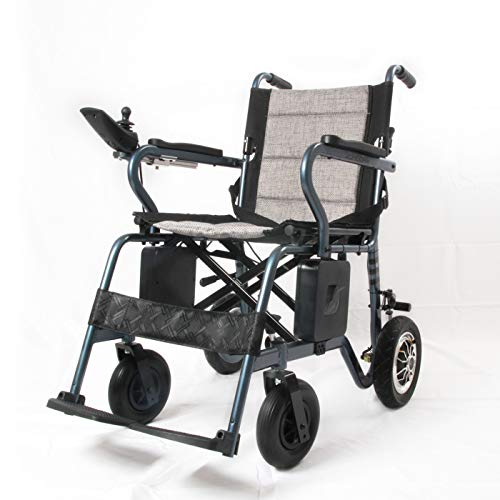 EBEI Electric Wheelchair Portable Lightweight Deluxe Foldable Power Mobility Aid Wheelchair Weight Only 40 Lbs Support 280 Lbs Heavy Duty