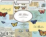 Cavallini Decorative File Folders : Butterfly Collage