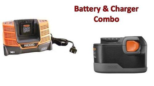 Ridgid CS1226 9.6-Volt Ni-Cd Battery & Charger R840091 Combo # 130252007-BC-140154001