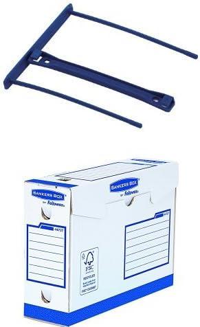 Fellowes 0089801 Clips pour Archives 10cm Banker Box Bleu
