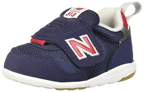 New Balance Boys' 313v1 Running Shoe, Navy/RED, 4 W US Toddler