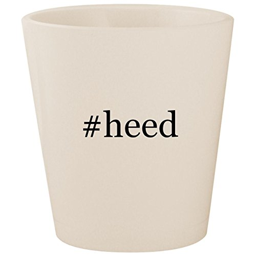 (#heed - White Hashtag Ceramic 1.5oz Shot Glass)