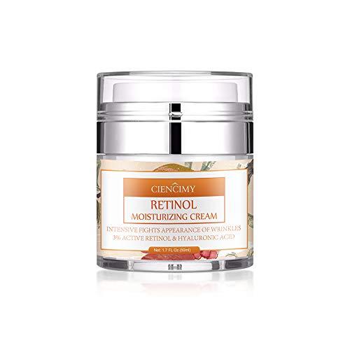 Ciencimy Retinol Moisturizer Cream for Face& Eye with Retinol, Hyaluronic Acid, Organic Aloe, Vitamin E and Green Tea,Jojoba Oil & Vitamin E, 1.7 Ounces