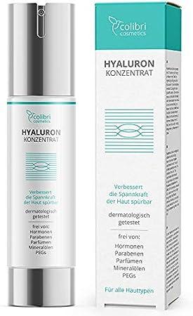 colibri cosmetics serum acido hialuronico puro facial 50ml - antiarrugas, para el contorno de ojos, el rostro - cosmética natural, fabricado en Alemania