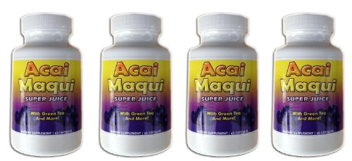 Eden étang Acai Maqui Weight Loss Pills, 4 comte