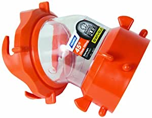 Camco RhinoFLEX Clear 45 Degree RV Sewer Hose Swivel Fitting- Allows You to See When Tank is Empty, Odor Protection; Durable and Secure Connection (39847)