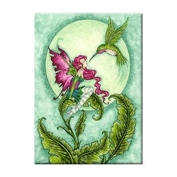 "Amy Brown Original Licensed Fairy Artwork MAGNET FROG GOSSIP 2.5/"" x 3.5/"""