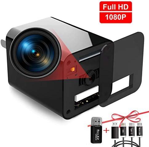 USB Hidden Camera Charger, Mini Spy Camera, USB Spy Camera Wall Charger, Wireless Hidden Cameras and Nanny Camera for Bathroom Home, Micro Full HD 1080p Surveillance Cam