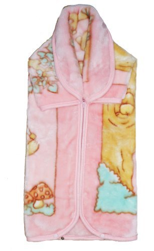 Baby Wrap With Hood Luxuriously Soft Swaddle Blanket Plush Wrap : Colour Baby Pink With Printed Design by Baby Wrap   B01N0JLZDT