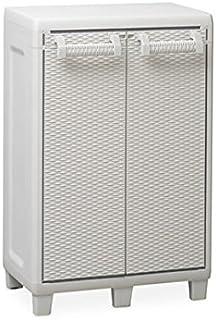 Toomax Mobile in Resina SANTORINI XL con ripiano 78x49x101h Colore Bianco