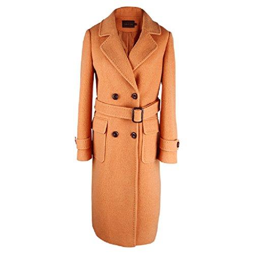 La nueva capa de lana de las mujeres del otoño y del invierno de la manera en la sección larga de la cintura Waichuan de la Sra. ( Tamaño : XL )
