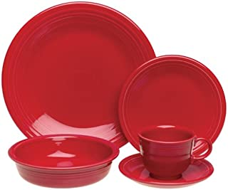 product image for Fiesta 20-Piece, Service for 4 Dinnerware Set, Scarlet