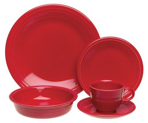 UPC 042648855260, Fiesta 20-Piece, Service for 4 Dinnerware Set, Scarlet