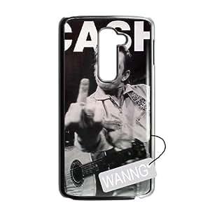 Johnny Cash LG G2 DIY Case, Johnny Cash Custom Case for LG G2 at WANNG
