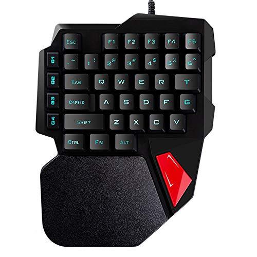 Baoer K108 Gaming Keyboard One-Handed Keyboard for Laptop Computer Pubg Phone Keyboard