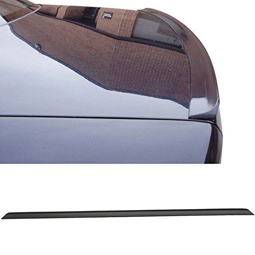 Rear Deck Lid Spoiler (Trunk Spoiler Fits 1999-2004 Volkswagen Jetta | PV Style Unpainted Black PUF Rear Deck Lid Spoiler Wing Other Color Available By IKON MOTORSPORTS | 2000 2001 2002 2003)