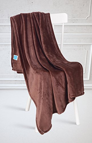 Brown Velvet Pillow - Chiara Rose Flannel Fleece Microplush Velvet Fuzzy Throw Blanket (Mink, Throw)