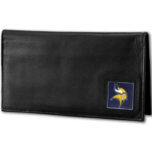 NFL Minnesota Vikings Deluxe Leather Checkbook Cover Checkbook Cover Nfl Football