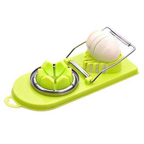 Pelador Dispositivo De Corte De Huevo, Multifuncional Dos En El Huevo Que Se Conserva, Rebanada De Huevo, Plástico Cocina,...