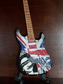 Mini Guitarra Sex Pistols Steve Jones pantalla regalo: Amazon.es ...