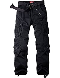 Men's Loose Cotton Cargo Pants with 9 pockets #7533