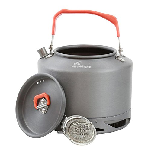 Tea Pot For Outdoor Camping 1.5L Kettle Coffee Pot Heat Exchanger