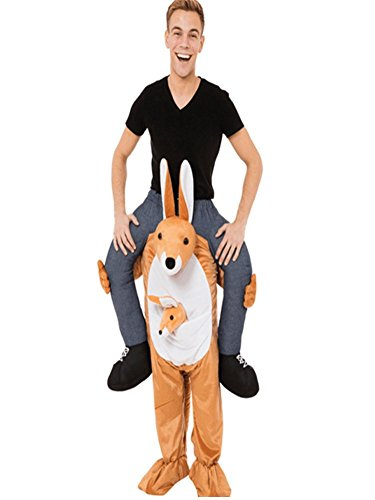 Ride On Riding Shoulder Adult Baby Beer Guy Christmas Halloween Costume Unisex Fancy Dress (Kangaroo)
