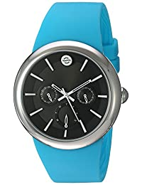 Philip Stein ' Quartz Stainless Steel and Silicone Automatic Watch, Color:Blue (Model: F43S-LCB-TQ)