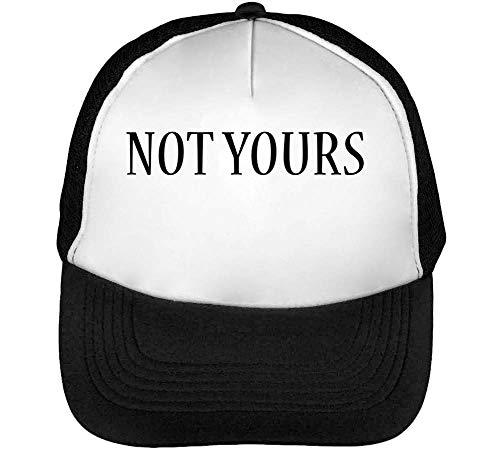 Yours Beisbol Hombre Blanco Negro Snapback Not Gorras xfPIdwqPa