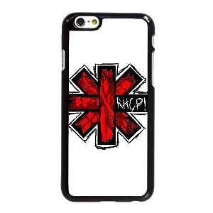 Funda iPhone 6 6S más la caja del teléfono celular de 5.5 pulgadas Funda Negro rojo pimientos picantes logotipo T2Y8GW