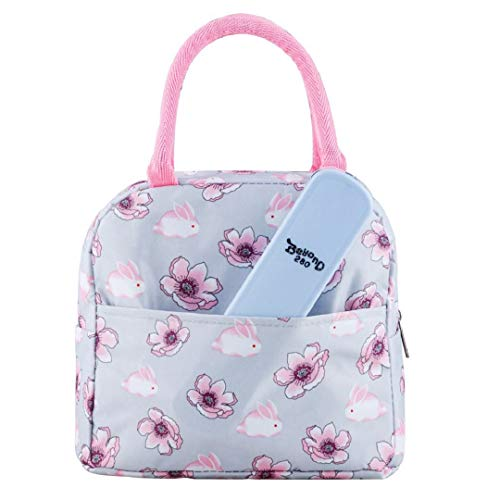 Beyond280 Stylish Lunch Bag for Women/Girls |Cute Insulated Lunch Organizer | Great for Work/School/Outdoor (Rabbits Pink)