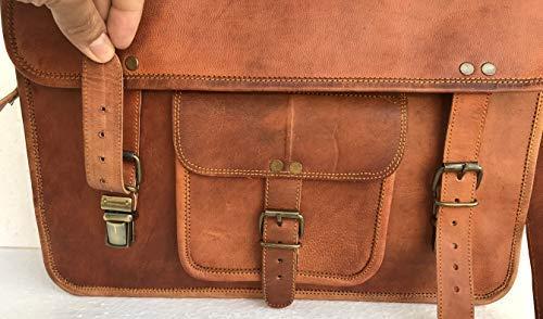 aca57ae16f63 Komal's Passion Leather Vintage 15 Inch Laptop Messenger Bag ...