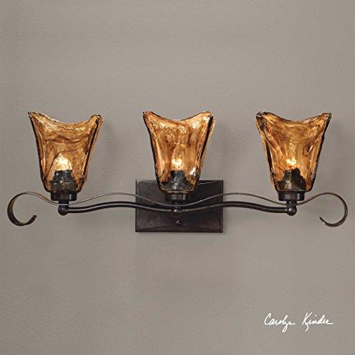 3 Light Bronze Vanity Strip The Vetraio Collection Sconce/Vanity Lights