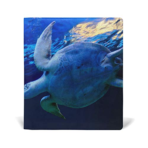 Sea Turtle Leather Stretchable Book Covers Durable Reusable Nylon Fabric Hard Cover Schoolbooks Notebooks Textbooks (9x11 inch)