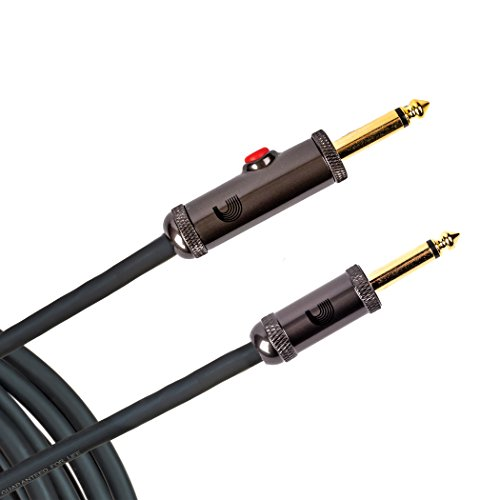 D'Addario 20' Circuit Breaker Instrument Cable with Latching Cut-Off Switch, Straight Plug