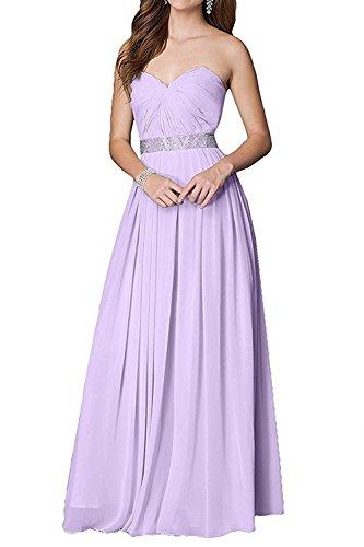La mia Abschlussballkleider Ballkleider A Weiss Lang Tanzenkleider Chiffon Linie Abendkleider Flieder Braut Herrlich Promkleider UUWw6dq8r