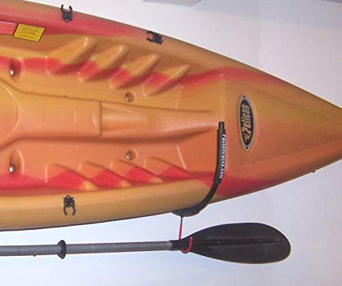 OKSLO Universal wall mounted kayak fold-away 2 rack set w/hooks by racks
