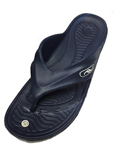 Utstyr En Menns Gummi Sandal Tøffel Komfortabel Dusj Strand Sko Slip På Flip  Flop S-